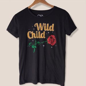 Chaser Wild Child Tee Size Small Black